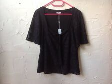 ❤️❤️❤️*BNWT* Per Una @ M & S 10 Lovely Black Lacy 👚 Top Cruise/Party RRP £25