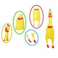 Kids Toys Screaming Rubber Chicken Pet Mate Dog Bite Squeak Chew /Non-toxic M8Z