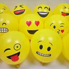 """20Pcs 12"""" Emoji Ballons Latex Visage Expression Décoration Anniversaires Mariage"""