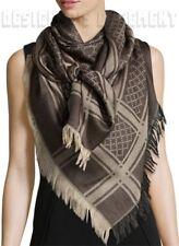 """GUCCI brown SURVIE Monogram GG Diamante Giant 55"""" PASHMINA shawl scarf NWT Auth"""