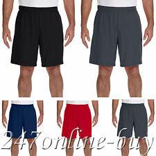 GILDAN MEN'S PERFORMANCE GYM SHORTS WITH POCKET SIZES S-3XL 44S30 - G44S30