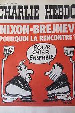 CHARLIE HEBDO No 80 MAI 1972 REISER  NIXON BREJNEV POURQUOI LA RENCONTRE ?