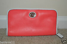 NEW Coach Legacy Archive Two Tone Utility Coral Clutch 48873 $198 Leather Bag