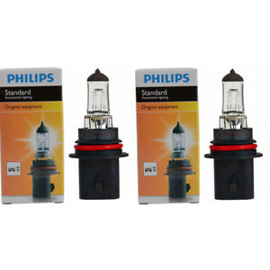 2 pc Philips High Low Beam Headlight Bulbs for Plymouth Acclaim Colt Grand mv