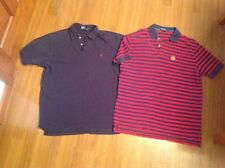 Men's XL Polo Ralph Lauren Red stripe Navy Shirts Polo