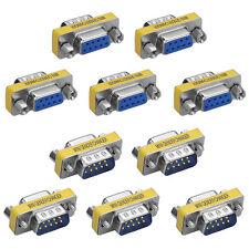 10x9 Pin RS-232 Seriell DB9 Stecker Stecker auf Buchse Kabel Geschlecht Wechsler
