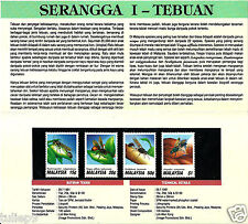 Presentation Pack - Malaysia (1991) - Insects I - Wasps Presentation Pack