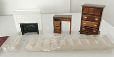 Miniature Staircase Kit, Fireplace, Dresser and Desk