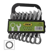 JBM KIT DE 8 LLAVES COMBINADAS CORTAS 50564