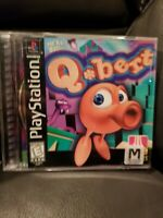 PS1 QBERT NO MANUAL TESTED FREE SHIPPING JUST COVER ART FREE SHIPPING
