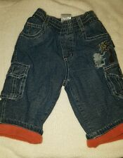 Boys warm fleece  lined jeans age 3 - 6 months from Pumpkin patch