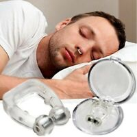 Magnetic Silicon Silent Sleep Aids Snore Stopper Device Anti Snoring Nose Clips
