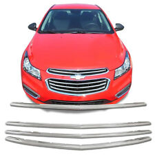 Chrome Grille Overlay (4 Pieces Kit) for 2015 2016 2017 Chevy Cruze LS, LT, LTZ