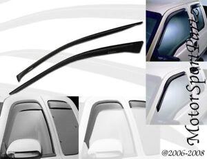 Outside Mount 2MM Vent Visors Deflector 2pcs Chevy C2500 K2500 Pickup 88 89-00