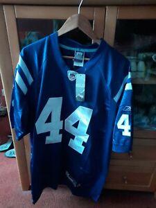 Indianapolis Colts Blue NFL Shirt Jersey #44 Dallas Clark Super Bowl Size XL