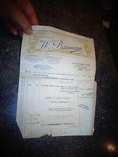 Ancienne Facture Baumann Fabrique de Meubles et Chaises en Bois Courbé Plié 1949