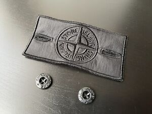 Authentic Stone Island Shadow Project Patch Badge + Buttons