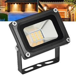 Black LED Floodlight Outside Light 12V 10W Security Flood Lights Outdoor Garden