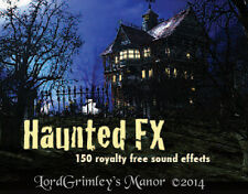Royalty Free 150 Sound Effects Library CD Music Halloween Haunted House Horror