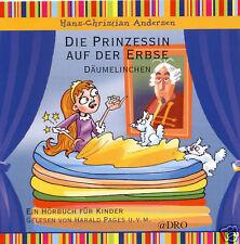 CD + Hörbuch für Kinder + Die Prinzessin auf der Erbse + Däumelinchen + Märchen