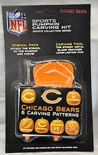 Chicago Bears Halloween Pumpkin Carving Kit NEW! Stencils for Jack-o-latern