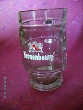 Chope à Bière en verre KRONENBOURG, 0.5l, fabriqué en France.