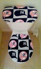 NY Yankees Fleece Fabric Toilet  Seat Cover Bathroom Accessories Set