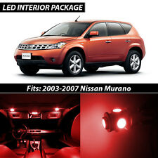 Red Interior LED Lights Package Kit for 2003-2007 Nissan Murano