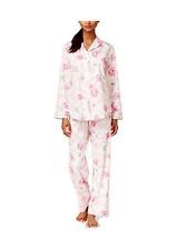 SPECIAL!! Lauren Ralph Lauren 100% Cotton Rose-Print Pajama Set Pink Size XS