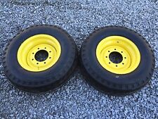 2 NEW 11L-16 Backhoe Tires/wheels/rims for Case 580 2WD - F3 12 ply rating