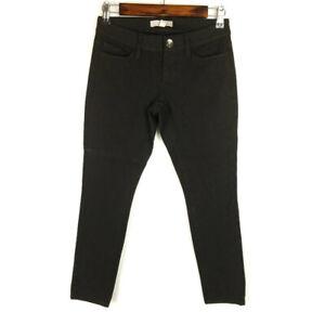 Banana Republic Womens Sloan Black Low Rise Skinny Stretch Jeans Sz 00P Petites