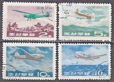 KOREA 1966 used SC#722/25  set, Jndustrial uses of Aircraft