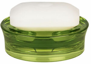 Spirella Max Light Acrylic Olive Green Soap Dish Branded Product