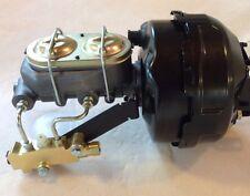 "1974-86 Jeep CJ5 CJ7 9"" dual power brake booster master cylinder 4 wheel disc"