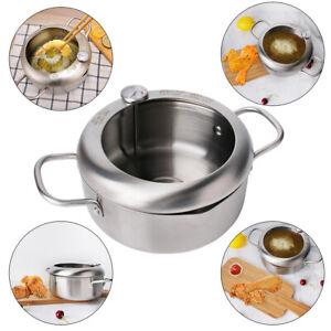 Japanese Deep Frying Pot Tempura Fryer Pan Temperature Control Fried Chicken UK