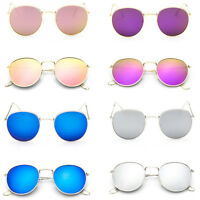 Fashion Oversized Round Sunglasses Men Women's Vintage Retro Mirror Glasses HS
