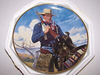 """John Wayne Plate Spirit Of The West The Franklin Mint 8"""" With Certificate"""