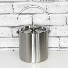 Grunwerg 2.27 Litre Ice Storage Bucket Double Walled Insulated Stainless Steel