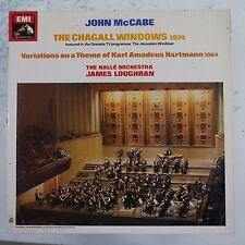 vinyl lp record JOHN McCABE the chagall windows , karl hartmann variations