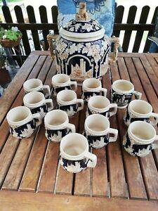 Bowle Set Keramik Steingut Burgen Ehrenfels Rumtopf 6L mit 13 Bechern