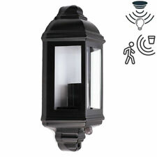 IP44 Outdoor Security Half Lantern E27 Vintage Traditional Dusk Dawn PIR Sensor