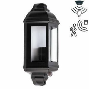 IP44 Outdoor Security Half Lantern E27 Vintage Traditional Dusk Dawn PIR Sensor