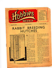 Vintage Hobbies Weekly, Aug 1947, 2701, Rabbit Breeding Hutches