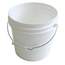 10-Pack 2 Gallon Plastic Pails Heavy Duty White Paint Buckets Metal Handle