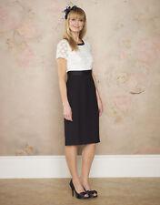 Monsoon Carol Ivory Blue Cotton Dress UK Size 18 EU 46