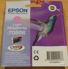 GENUINE EPSON T0806 TO806 Light Magenta cartridge ORIGINAL HUMMINGBIRD OEM ink