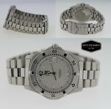 Tag Heuer 2000 WK1112-1 Classic Professional 37mm Watch Men's Silver Dial