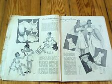 1930s 1940s GERMAN FASHION & SEWING PATTERN MAGAZINE - Vintage 30s 40s LINGERIE