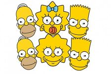 The Simpsons variété Pack 6 CARTE amusant MASQUE VISAGE AVEC BART, Homer, Maggie