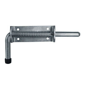 Spring Loaded Drop Bolt - Stable Door Gate Garage Horse Trailer with Fixings